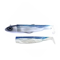 Fiiish Black Minnow 140 Combo - 40g Off Shore Jig Head - Blue Silver & 2 Lure Bodies - Blue