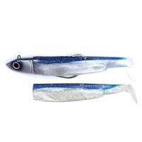 Fiiish Black Minnow 160 Combo - 60g Off Shore Jig Head - Blue Silver & 2 Lure Bodies - Blue