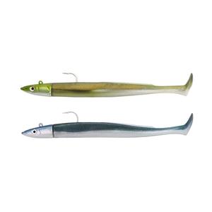 Image of Fiiish Crazy Paddle Tail 150 15cm Double Combo Off Shore - 20g - Khaki - Pearly Blue