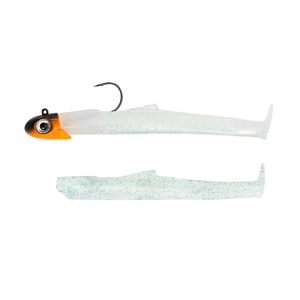 Image of Fiiish Mud Digger 90 9cm Combo - 15g - Cloudy White + Cloudy White Body - Jighead Black/Orange UV