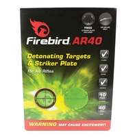 Firebird AR40 Detonating Targets and Striker Plates for Air Rifles - 40mm Reactive Targets