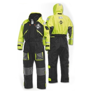 Image of Fladen Rescue System One Piece Flotation Suit - Black/Yellow