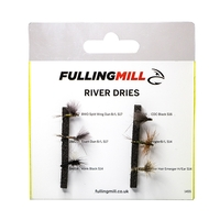 Fulling Mill Grab A Pack - River Dries Selection - 6 Flies
