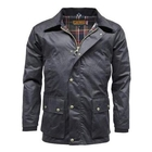 Image of Game Barker Antique Wax Jacket - Navy