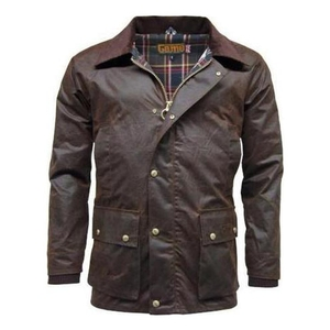 Image of Game Barker Antique Wax Jacket - Brown