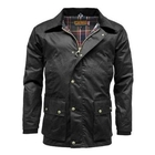 Image of Game Barker Antique Wax Jacket - Black