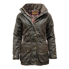 Image of Game Cantrell Wax Jacket - Ladies - Brown