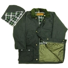 Image of Game Childrens Padded Wax Jacket - Olive
