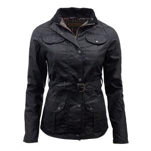 Image of Game Morgan Antique Wax Jacket - Ladies - Black