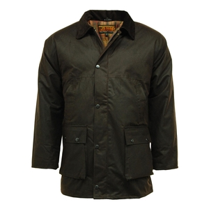 Image of Game Padded Wax Jacket - Brown