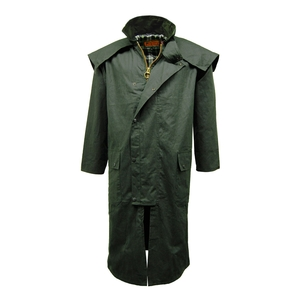 Image of Game Stockman Long Wax Cape - Olive