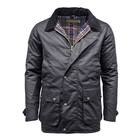 Image of Game Winchester Padded Wax Jacket - Navy
