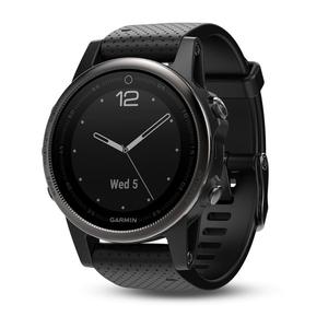 Image of Garmin Fenix 5S Sapphire GPS Watch - Black/Black