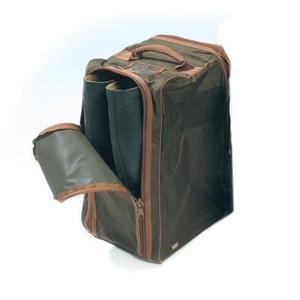 Image of GMK Wellington Boot Bag - Dark Green/Brown