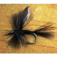 Gone Fishing Black Gnat Flies - 12 Pack