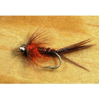 Gone Fishing Pheasant Tail Orange Flies - 12 Pack