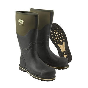 Image of Grubs Ceramic Safety Wellington Boots (Unisex) - Green