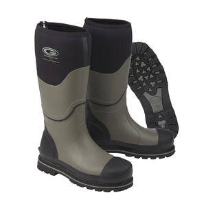 Image of Grubs Ceramic 5.0 Safety Wellington Boots (Unisex) - Black / Grey