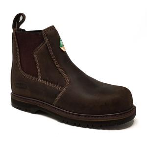 Image of Grubs Fury Safety Dealer Boot (No Box) - Dark Brown Nubuck