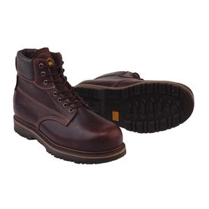 Image of Grubs Lightning 7 Eyelet Safety Boot - Dark Brown