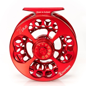 Image of Einarsson 7Plus Fly Reel - Left Hand Model - Red