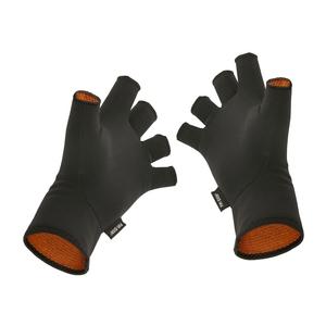 Image of Guideline Fir Skin CGX Windproof Fingerless Gloves - Black/Orange