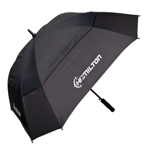 Image of Hamilton Shooting Auto Umbrella with Vent - Black
