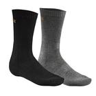 Image of Harkila Casual 2-Pack Socks - Black / Grey