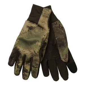 Image of Harkila Lynx Fleece Gloves - AXIS MSP Forest Green Camo