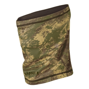 Image of Harkila Lynx Reversible Roll Collar - AXIS Forest Green Camo/Forest Green