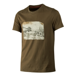 Image of Harkila Odin Moose & Dog T-Shirt - Willow Green