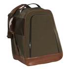 Image of Harkila Retrieve Canvas Boot Bag With Vintage Leather - Warm Olive
