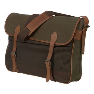 Image of Harkila Retrieve Canvas Game Bag With Vintage Leather - Warm Olive