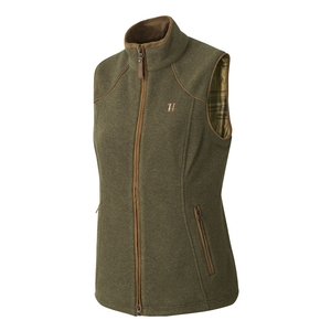 Image of Harkila Sandhem Lady Fleece Waistcoat - Dusty Lake Green Melange