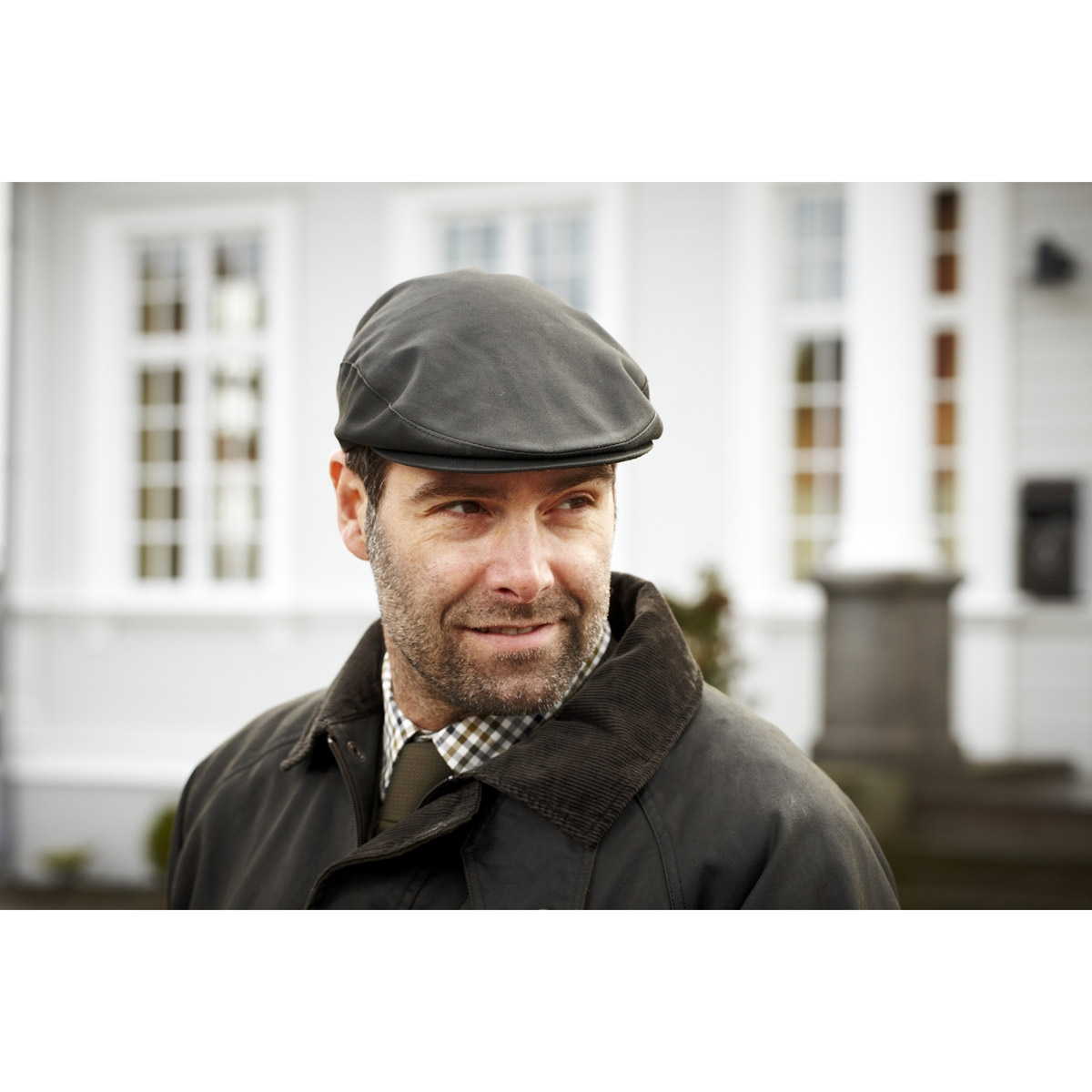 Image of Harkila Sterling Flat Cap - Willow Green 49f4035452f