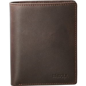 Image of Harkila Wallet w/Coin Room - Waxed Leather - Dark Brown