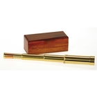 Image of Helios Fine Brass Admiral 10-30x30 Zoom Draw Telescope with Mahogany Box
