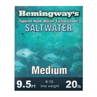 Hemingways Furled Leader - Saltwater Medium - 9.5ft - 20lb