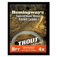 Hemingways Furled Leader - Trout Special - 8ft - 4X