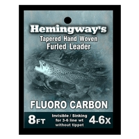 Hemingways Furled Leader - Trout Fluorocarbon - 8ft - 4-6X