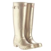 Image of Hunter Original Wellington Boots - Gold Metallic