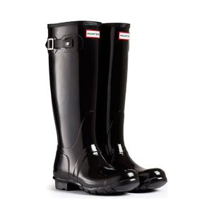 Image of Hunter Original Gloss Wellington Boots (Women's) - Black