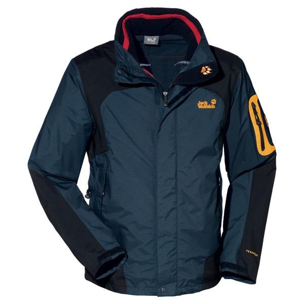 famous brand lace up in buy online Jack Wolfskin 14th Peak 3 in 1 Jacket - Mens - Ebony
