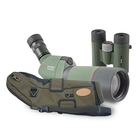 Kowa Compact Garden Kit - TSN 663M Angled Spotting Scope, TE-X9B 20-60x Eyepiece, C-661 Stay-On Case, BD II 8x32 XD Binoculars