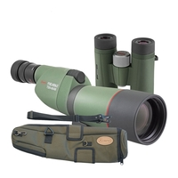 Kowa Compact Garden Kit - TSN 664M Straight Spotting Scope, TE-X9B 20-60x Eyepiece, C-661 Stay-On Case, BD II 8x32 XD Binoculars