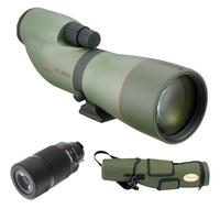 Kowa TSN-774 77mm Prominar XD Straight Spotting Scope Kit With 25-60x Wide Zoom Eyepiece & Stay-On Case