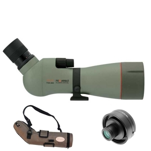 Image of Kowa TSN-883 88mm Prominar Angled Spotting Scope Body with 25-60x Wide Zoom Eyepiece, Stay On Case and 1.6x Extender