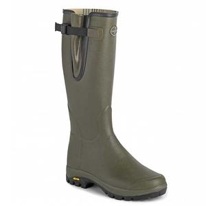 Image of Le Chameau Vierzon Vibram Jersey Wellington Boots (Men's) - Vert