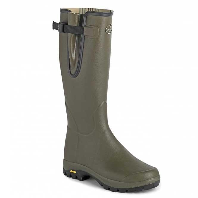fcac751932c Le Chameau Vierzon Vibram Jersey Wellington Boots (Men's) - Vert