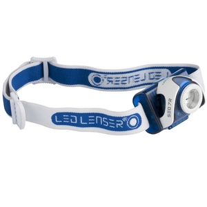 Image of LED Lenser SEO7R Rechargeable Headlamp - Blue